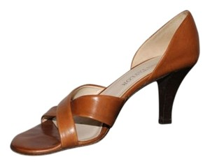 Ann Taylor Brown Open Toe Brown/Tan Pumps