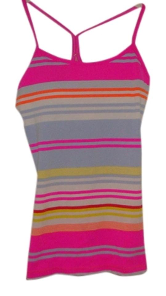 033605bb11c1a Lululemon Pink Blue Gray and Yellow Striped Tank Top Cami Size 6 (S ...