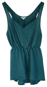 Ecote Silk Urban Outfitters Top Teal Green