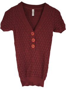 Fossil Knit T Shirt Red