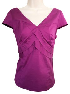 Ann Taylor Shirt Pleated Top NWT Purple