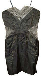 Urban Outfitters Embroidered Strapless Dress