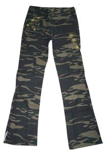 Old Skool Urban Wear Flare Pants Camouflage