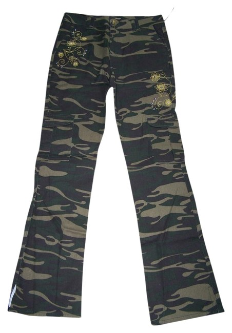 Old Skool Urban Wear 5 - 6 Juniors New Flare Pants Camouflage