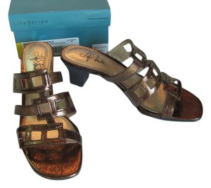 LifeStride Size 8-1/2 Very Good Condition BRONZE Sandals