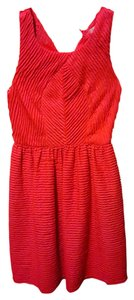 Anthropologie short dress Coral Summer on Tradesy