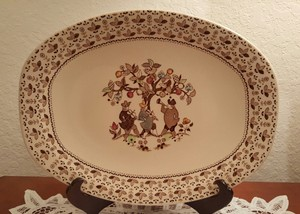Johnson Brothers Sugar And Spice Brown Oval Serving Platter
