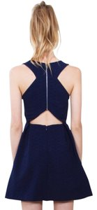 Nasty Gal short dress Navy Sexy Cut-out on Tradesy