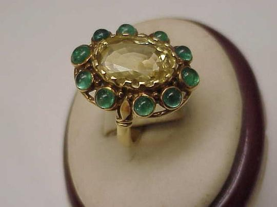 Preload https://img-static.tradesy.com/item/12467995/unique-vctorian-18k-yellow-gold-genuine-huge-citrine-emerald-1820-ring-0-1-540-540.jpg