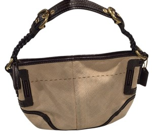 Coach Satchel in Brown/beige