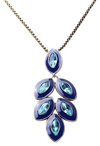 Betsey Johnson Betsey Johnson Blue Leaf Necklace Long N259