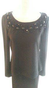 St. John Couture Evening Top Black on Black