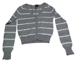 Drama Gold Striped Light Weight Casual Button Down Cardigan