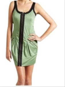 Dream Culture short dress Mint Green with Black trim on Tradesy