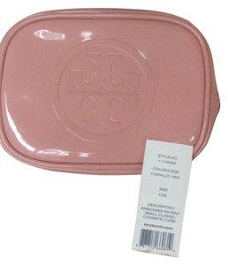 Tory Burch 100% Authentic Tory Burch Patent, Pink Cosmetic case. WITH TAGS!!