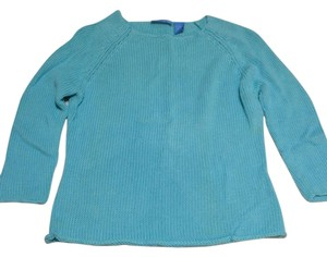 dELiA*s 3/4 Sleeve Crochet Knit Crewneck Sweater