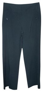Larry Levine 12 Pinstripe Dress Wide Leg Pants Navy Blue
