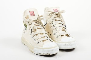 Converse All Star Cream Canvas Limited Edition John Lennon Sneakers White Athletic
