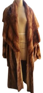 vintage Designer Sexy Fur Sable Wrap Coat. Fur Mink Luxury Rich Lightweight Fur Coat
