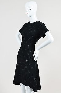Kenzo short dress Black Crepe Embroidered on Tradesy