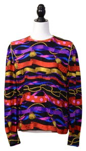 Maggy London Bright Bold Silk Top Multicolored
