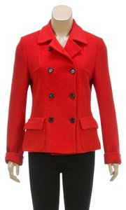René Lezard Red Womens Jean Jacket