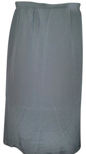 Diane Gilman Silk Skirt Grey