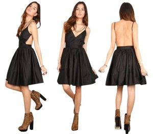 ONE by Contrarian Backless Side Cutout Flare Pockets Sexy Dress