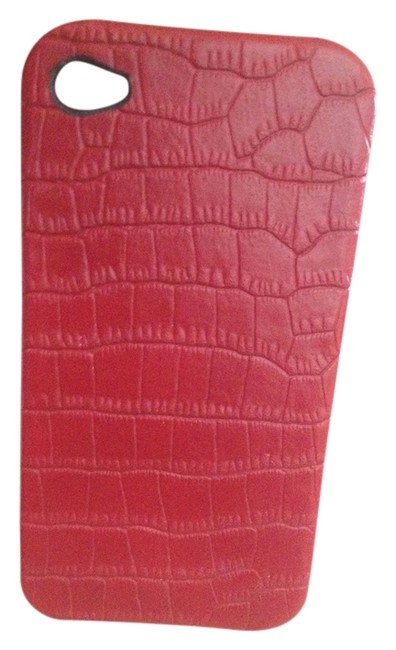 Item - Red Faux Leather Cell Case Tech Accessory