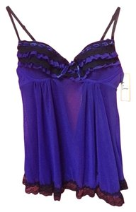 Felina Black and Purple Lingerie Sexy Pajama Set - New with Tags!