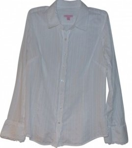 Lilly Pulitzer Button Down Shirt White