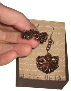 Local Artisan Copper Dipped Kale Earrings