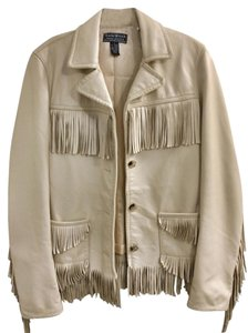 Lucky Brand Sleeves Fringe Leather Jacket