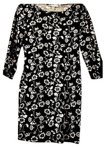 Forever 21 short dress Black, White Mini Micro-mini Floral on Tradesy