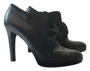 Ralph Lauren Booties Bow Leather Black Pumps
