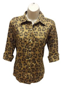 Ralph Lauren Button Down Shirt Leopard