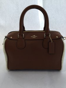 Coach Mini Bennett Satchel in Saddle