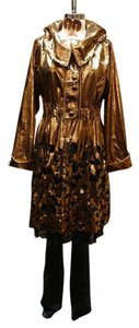 Lie Sang Bong - Paris Leather Gold Metallic over Black Lace Leather Jacket