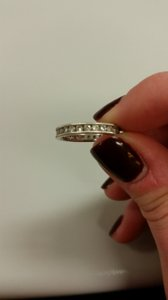 Diamond And White Gold Fully Wrapped Wedding Band