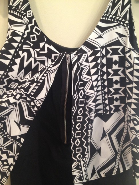 MYNE short dress Abstract Black, and white Short Vintage 100%silk Womens Mini on Tradesy