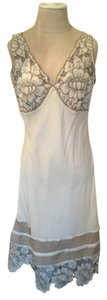 cream/off white applique Maxi Dress by Catherine Malandrino