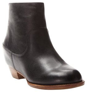80%20 Leather Hidden Wedge Black Boots