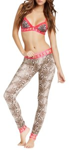 Beach Bunny Skinny Pants Snake-Coral