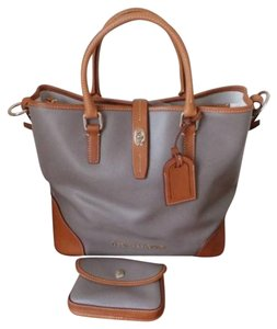 Dooney & Bourke Leather Purse Satchel in Taupe
