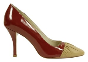 MS Shoe Designs Burgundy & Tan Pumps