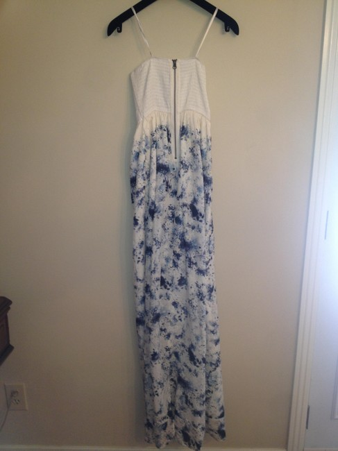 Twelfth St. by Cynthia Vincent Strapless Cotton Silk Long Flowy Nice Neckline Wedding Dress