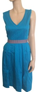 Nine West short dress Turquoise on Tradesy