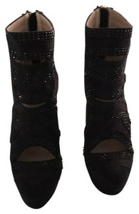 bebe Black suede with detail Boots