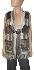 Cynthia Rowley Vest Faux Fur Sweater