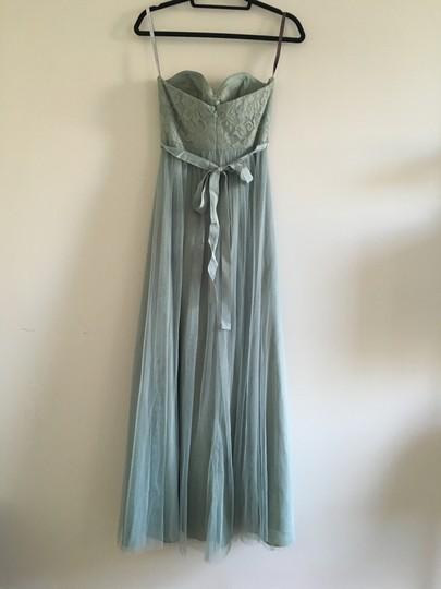BHLDN Sage Nylon Metallic Polyester; Polyester Lining Juliette Feminine Bridesmaid/Mob Dress Size 4 (S) Image 2